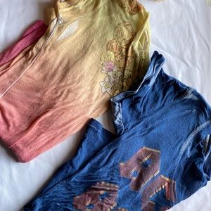 Bundle of 2 Urban Outfitters poly/cotton blend t's